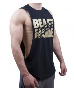 Deep Arm-Cut Sleeveless T-Shirt